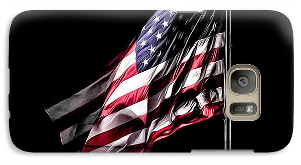 Galaxy Case featuring the photograph Bleeding Flag by Terry Cosgrave
