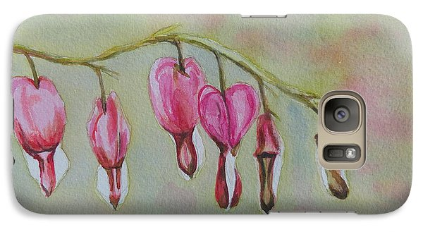 Galaxy Case featuring the painting Bleeding Hearts by Betty-Anne McDonald