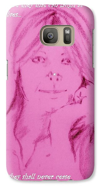 Galaxy Case featuring the drawing Blessed Are They by Denise Fulmer