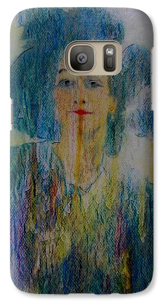 Galaxy Case featuring the painting Bleu Femme Fatal by Roberto Prusso