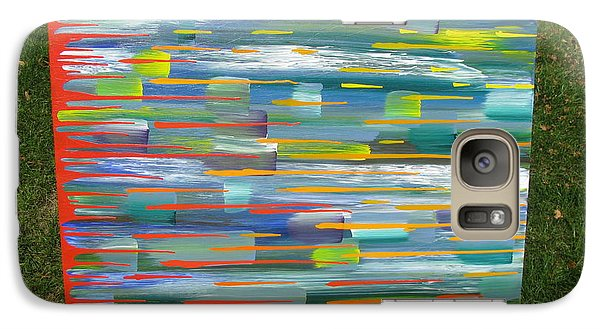Galaxy Case featuring the painting Blindsided by Jacqueline Athmann