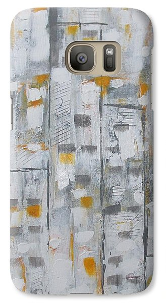 Galaxy Case featuring the painting Blizzard In The Big Apple by Sharyn Winters