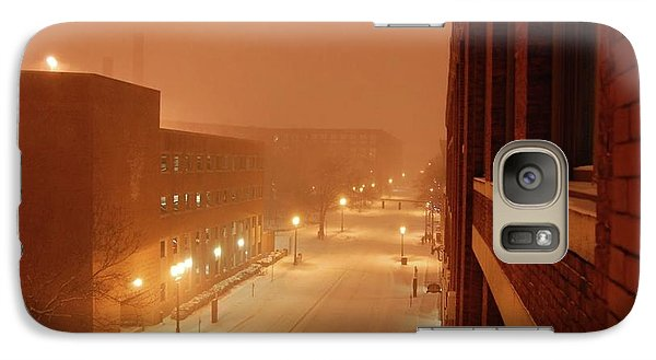 Galaxy Case featuring the photograph Blizzard Market Street Lowell Ma by Mary McAvoy