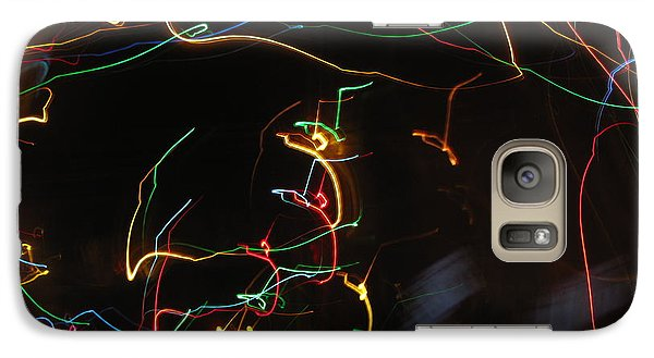 Galaxy Case featuring the photograph Blizzard Of Colorful Lights. Dancing Lights Series by Ausra Huntington nee Paulauskaite