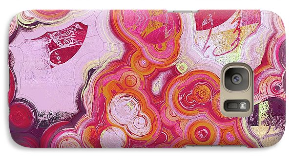 Galaxy Case featuring the digital art Blobs - 03v2c7b by Variance Collections