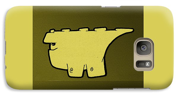 Galaxy Case featuring the digital art Blockasaurus by Uncle J's Monsters