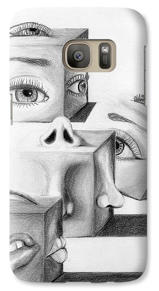 Galaxy Case featuring the drawing Blocked by Denise Deiloh