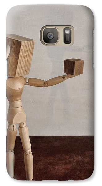 Galaxy Case featuring the photograph Blockhead by Mark Fuller