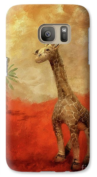 Galaxy Case featuring the digital art Block's Great Adventure by Lois Bryan
