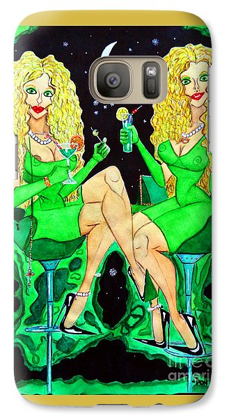 Galaxy Case featuring the painting Blond Girls At Disco by Don Pedro De Gracia