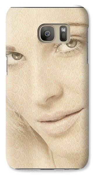 Galaxy Case featuring the photograph Blonde Girl's Face by Michael Edwards
