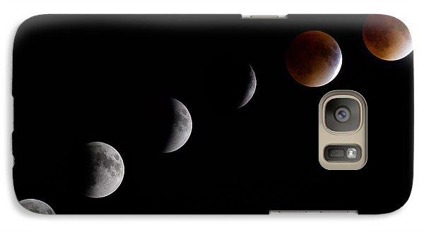 Blood Moon Lunar Eclipse Galaxy S7 Case