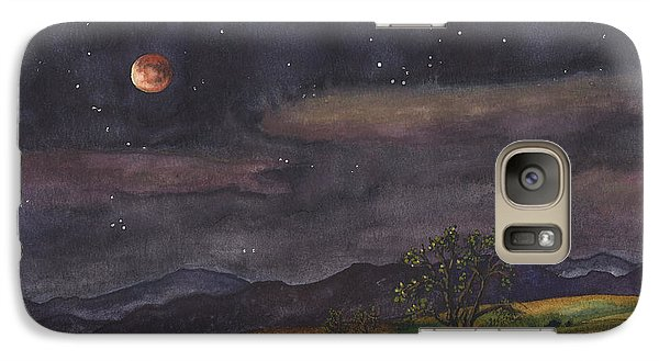 Galaxy Case featuring the painting Blood Moon Over Boulder by Anne Gifford