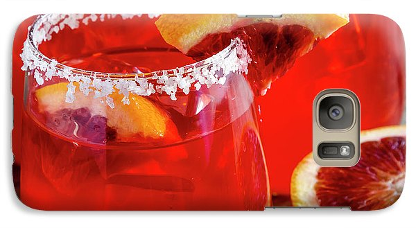 Galaxy Case featuring the photograph Blood Orange Margaritas On The Rocks by Teri Virbickis