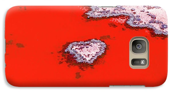 Helicopter Galaxy S7 Case - Blood Red Heart Reef by Az Jackson