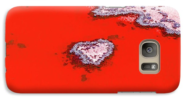 Galaxy Case featuring the photograph Blood Red Heart Reef by Az Jackson
