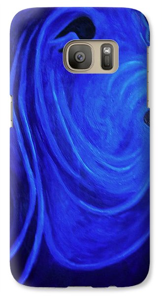 Galaxy Case featuring the painting Bloodhound-  Blueblood II by Laura  Grisham