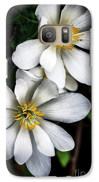 Galaxy Case featuring the photograph Bloodroot In Bloom by Thomas R Fletcher