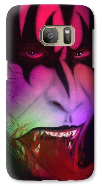 Galaxy Case featuring the painting Bloody Demon by Kevin Caudill