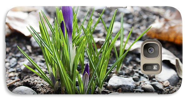 Galaxy Case featuring the photograph Bloom Awaits by Jeff Severson