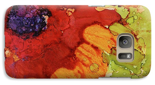 Galaxy Case featuring the painting Blooming Cactus by Cynthia Powell