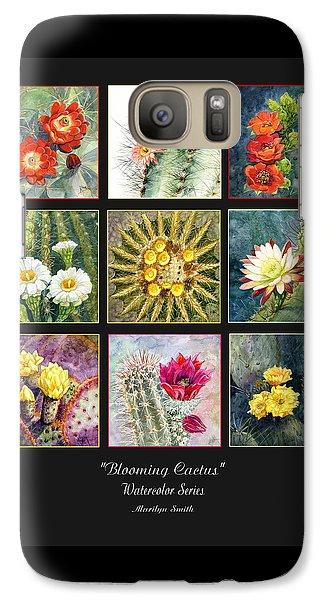 Galaxy Case featuring the painting Blooming Cactus by Marilyn Smith