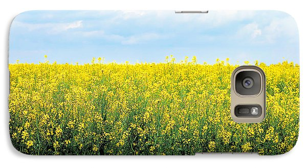 Galaxy Case featuring the photograph Blooming Canola - Photography by Ann Powell