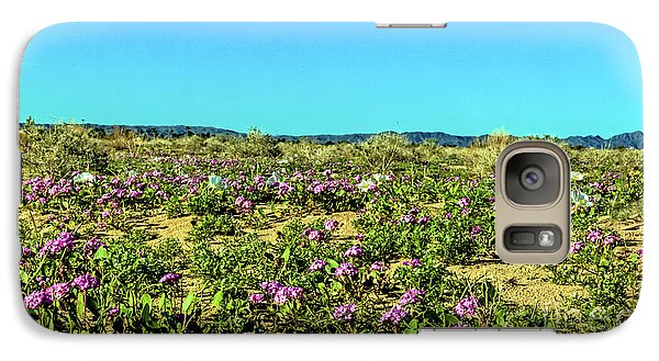Galaxy Case featuring the photograph Blooming Sand Verbena by Robert Bales