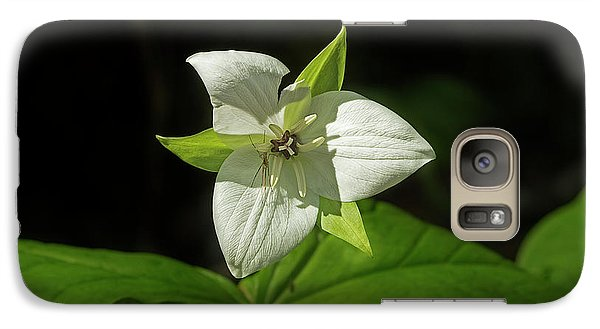 Galaxy Case featuring the photograph Blooming Trillium by Mike Eingle