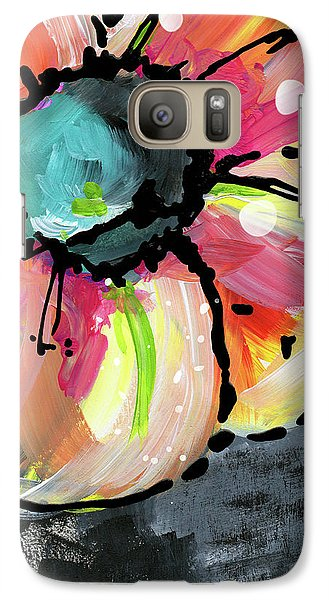 Galaxy Case featuring the mixed media Blooming Wildflower- Art By Linda Woods by Linda Woods