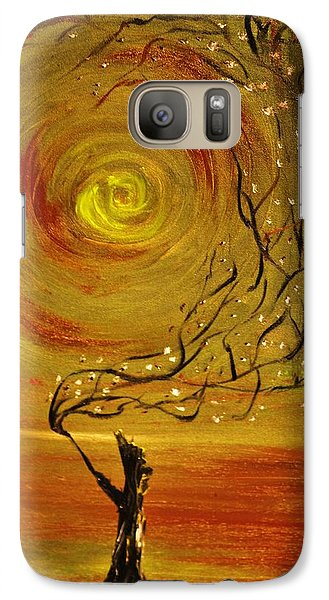 Galaxy Case featuring the painting Blossom by Evelina Popilian