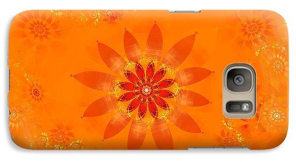 Galaxy Case featuring the digital art Blossom In Orange by Richard Ortolano