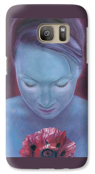 Galaxy Case featuring the painting Blossom by Ragen Mendenhall