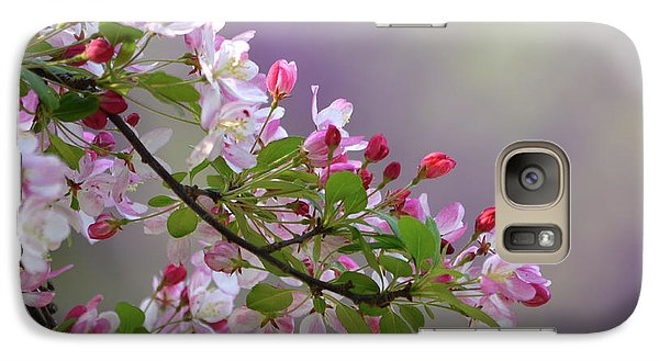 Galaxy Case featuring the photograph Blossoms And Bokeh by Ann Bridges