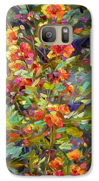 Galaxy Case featuring the painting Blossoms Of Hope by Chris Brandley