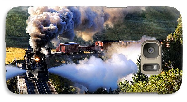 Galaxy Case featuring the photograph Blowdown On Lobato Trestle by Ken Smith
