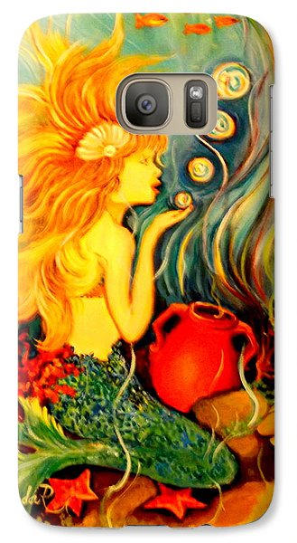 Galaxy Case featuring the painting Blowing Bubbles by Yolanda Rodriguez