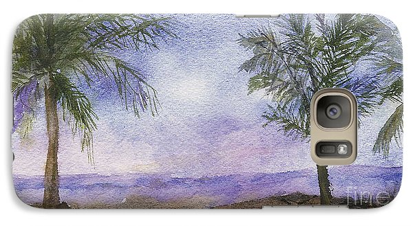 Galaxy Case featuring the painting Blowing By The Ocean by Vicki  Housel