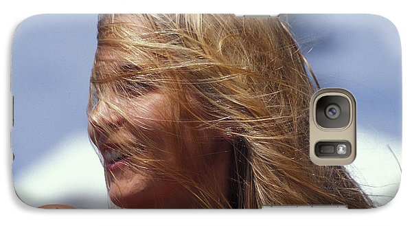 Galaxy Case featuring the photograph Blowing In Th Wind by Carl Purcell