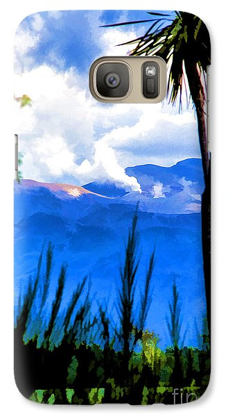 Galaxy Case featuring the photograph Blowing Steam by Rick Bragan