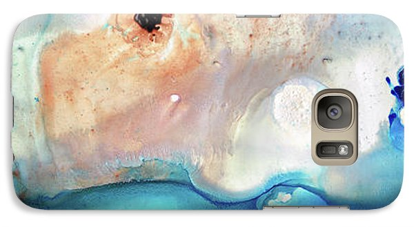 Galaxy Case featuring the painting Blue Abstract Art - The Long Wave - Sharon Cummings by Sharon Cummings