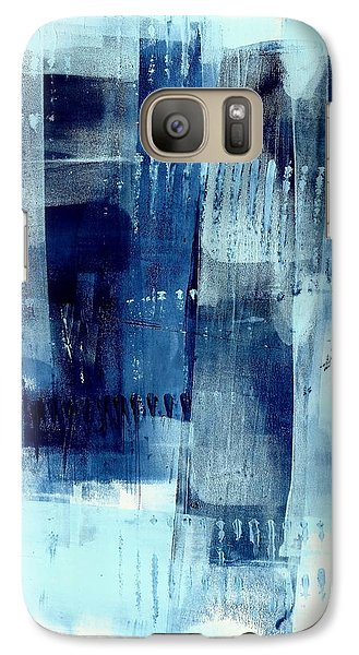 Galaxy Case featuring the painting Blue Abstract I by Lisa Noneman