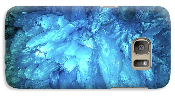 Galaxy Case featuring the photograph Blue Agate by Nicholas Burningham