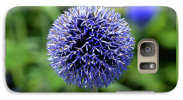Galaxy Case featuring the photograph Blue Allium by Terence Davis