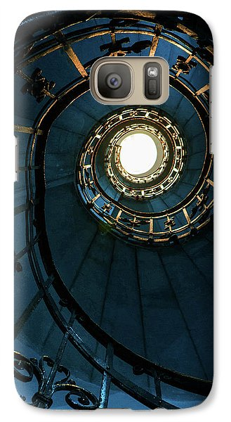 Galaxy Case featuring the photograph Blue And Golden Spiral Staircase by Jaroslaw Blaminsky