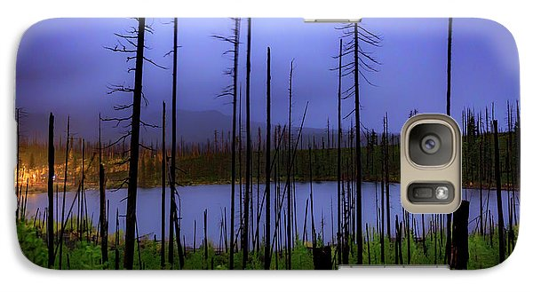 Galaxy Case featuring the photograph Blue And Green by Cat Connor