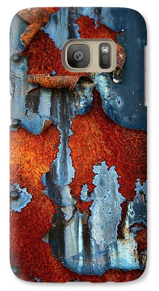 Galaxy Case featuring the photograph Blue And Rust by Karol Livote