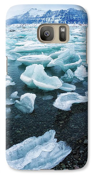 Galaxy Case featuring the photograph Blue And Turquoise Ice Jokulsarlon Glacier Lagoon Iceland by Matthias Hauser