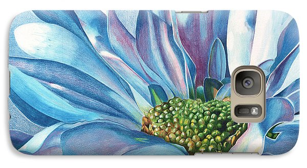 Galaxy Case featuring the painting Blue by Angela Armano