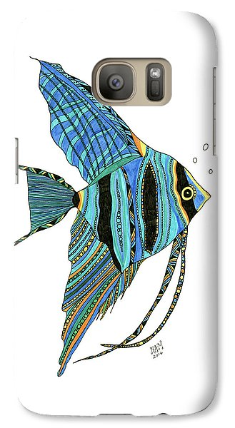 Blue Anglefish Galaxy S7 Case